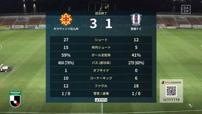試合結果|北九州 3-1 愛媛