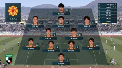 先発メンバー|2021 J2 第7節 甲府 vs. 北九州