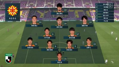 先発メンバー|2021 J2 第8節 京都 vs. 北九州