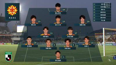 先発メンバー|2021 J2 第9節 北九州 vs. 山口
