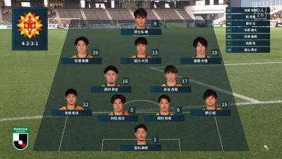 先発メンバー|2021年J2リーグ 第19節 北九州 vs. 愛媛