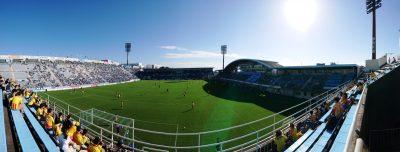 ヤマハスタジアム(アウェイ側から)|2021年J2リーグ 第33節 磐田 vs. 北九州